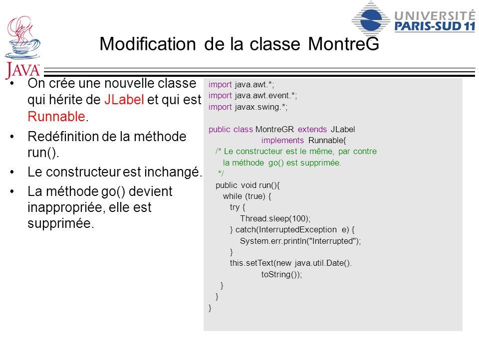 Modification de la classe MontreG