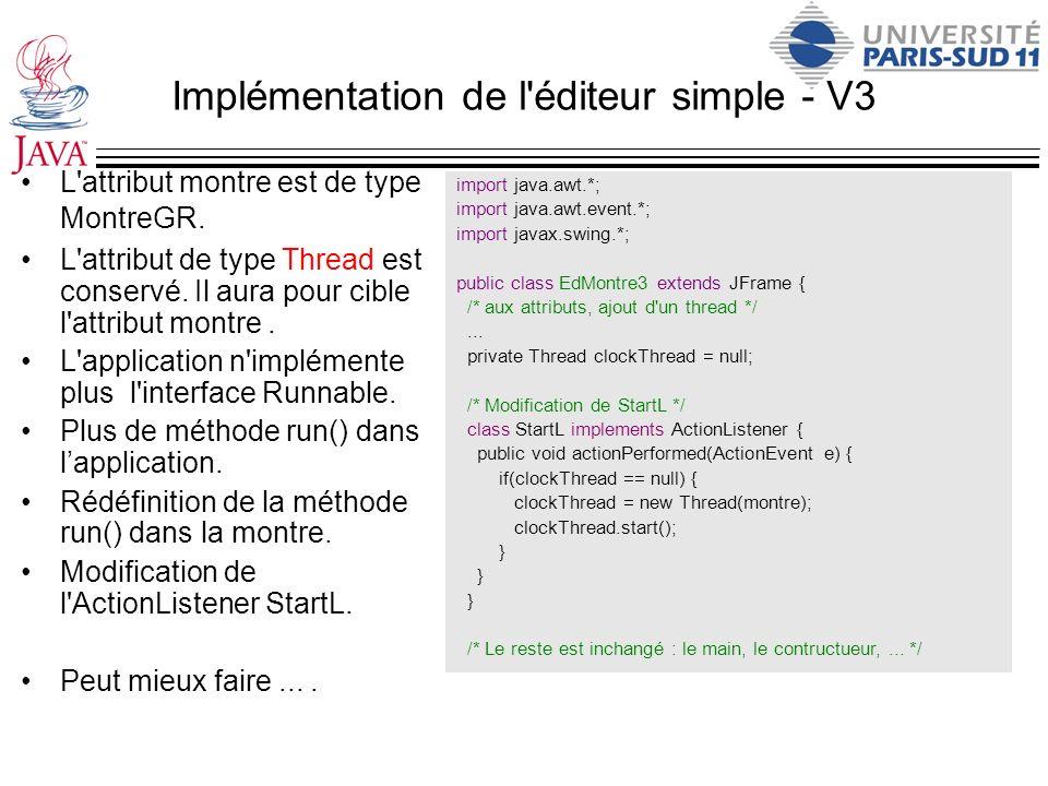 Implémentation de l éditeur simple - V3