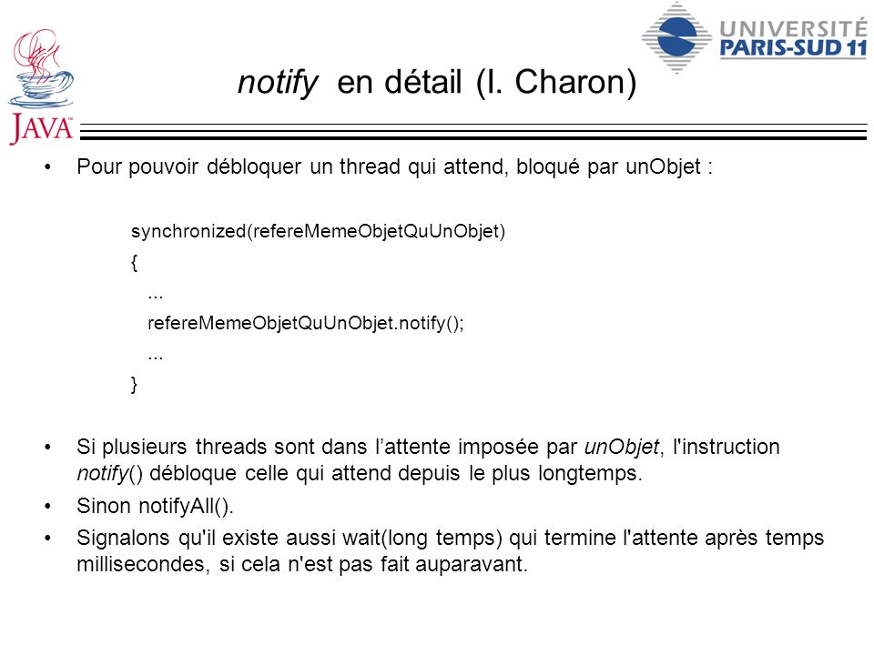 notify en détail (I. Charon)