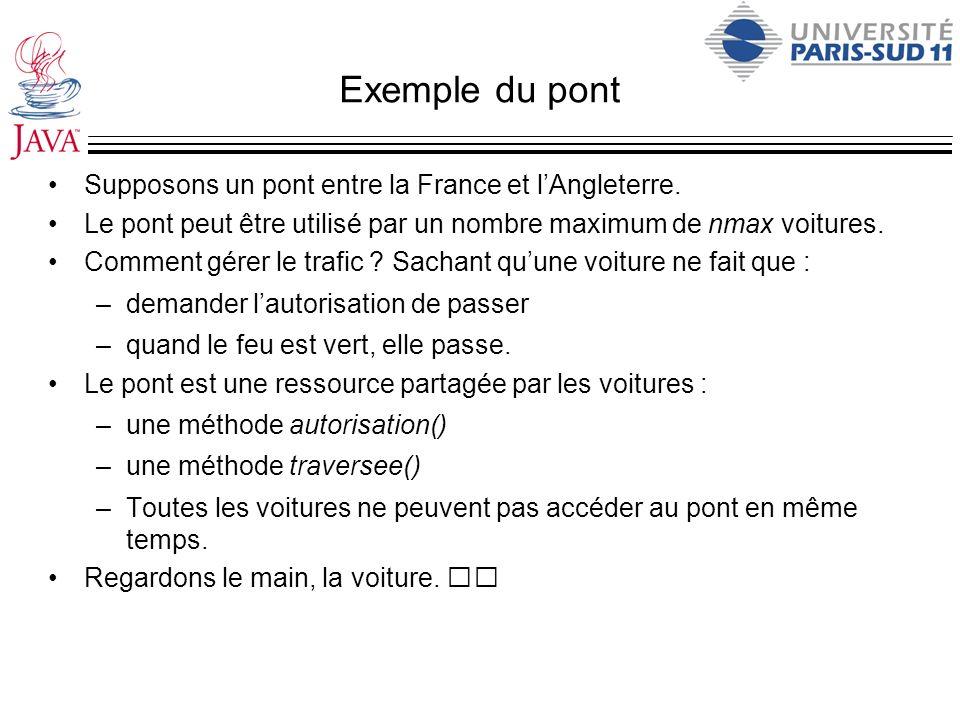 Exemple du pont Supposons un pont entre la France et l'Angleterre.