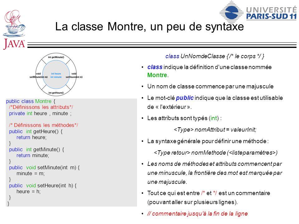 La classe Montre, un peu de syntaxe