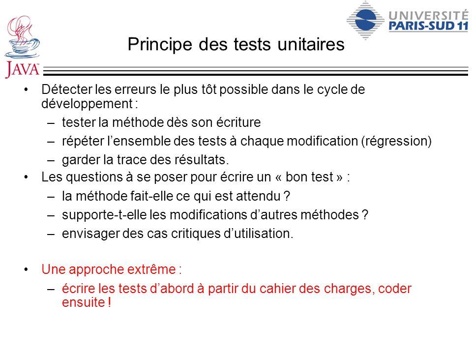 Principe des tests unitaires