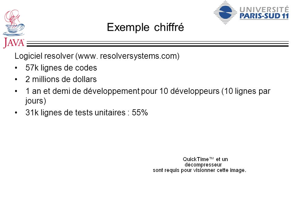 Exemple chiffré Logiciel resolver (www. resolversystems.com)