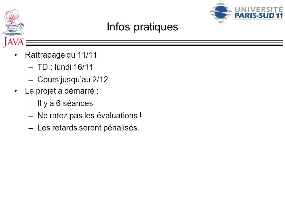 Infos pratiques Rattrapage du 11/11 TD : lundi 16/11