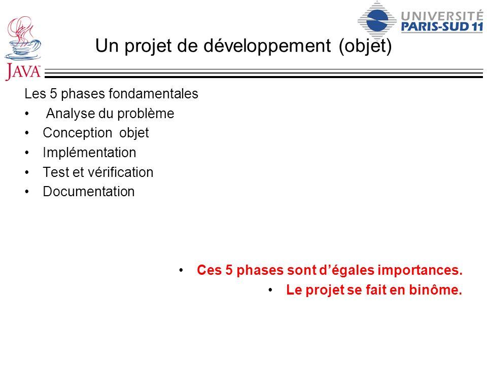 Un projet de développement (objet)