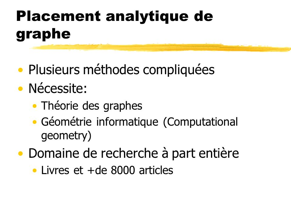 Placement analytique de graphe