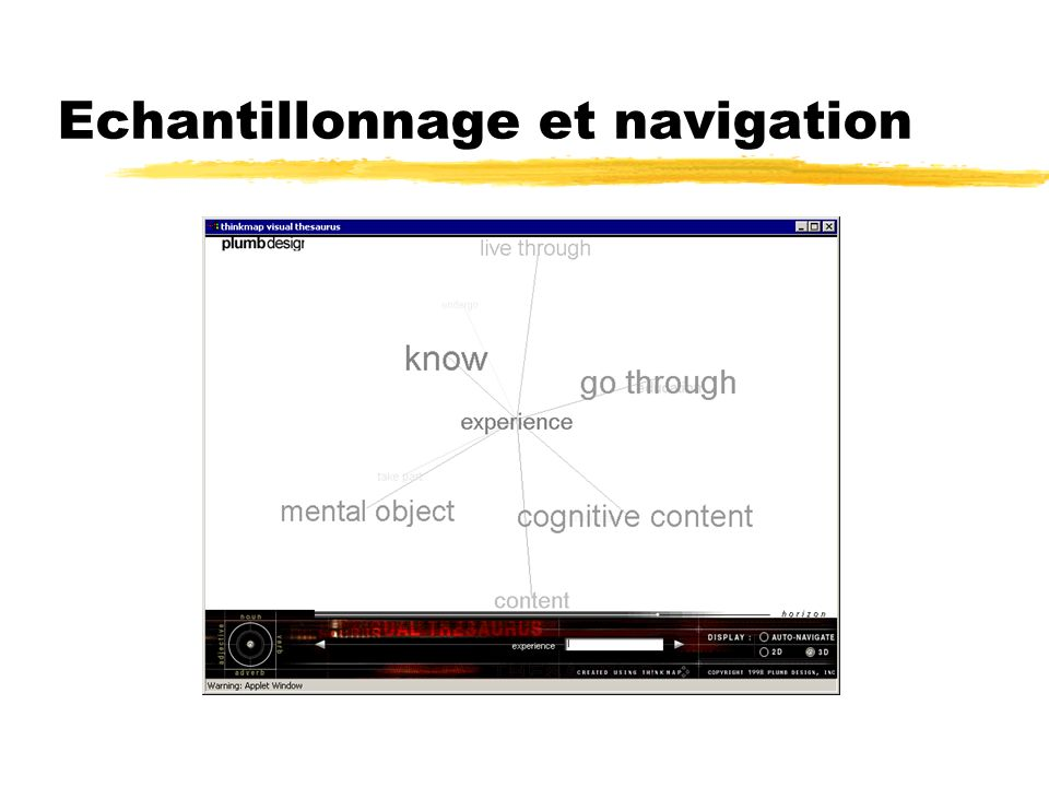 Echantillonnage et navigation