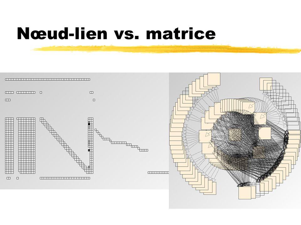 Nœud-lien vs. matrice