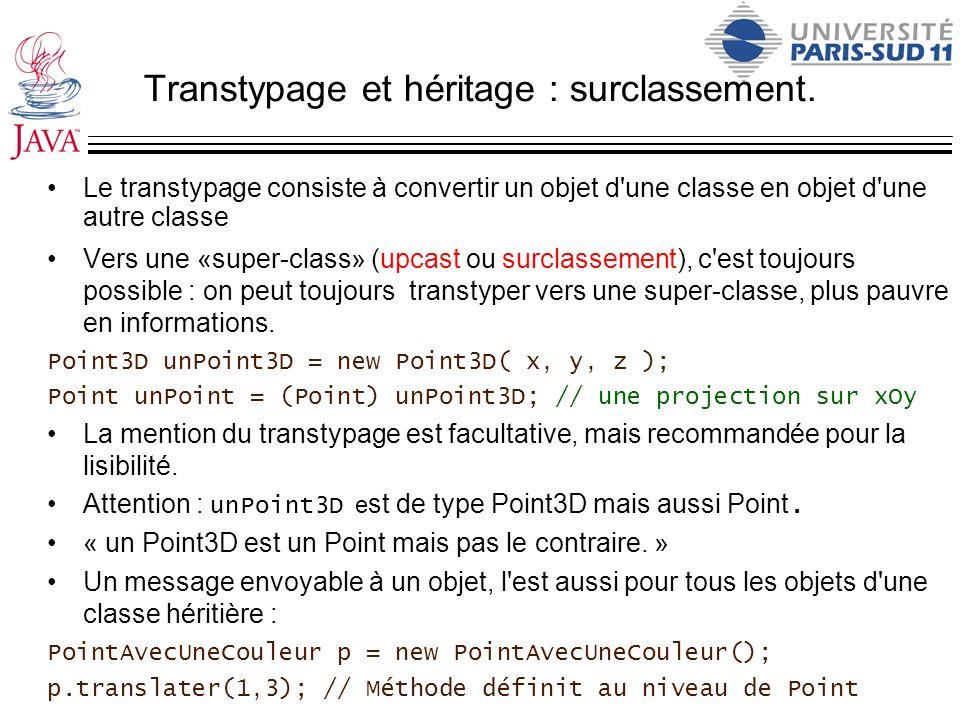 Transtypage et héritage : surclassement.