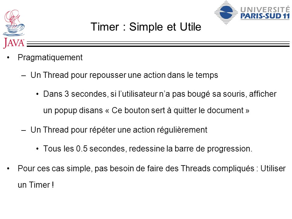 Timer : Simple et Utile Pragmatiquement