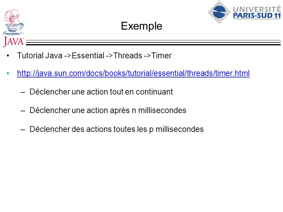 Exemple Tutorial Java ->Essential ->Threads ->Timer