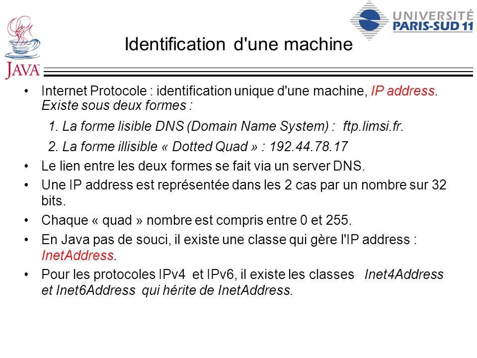 Identification d une machine