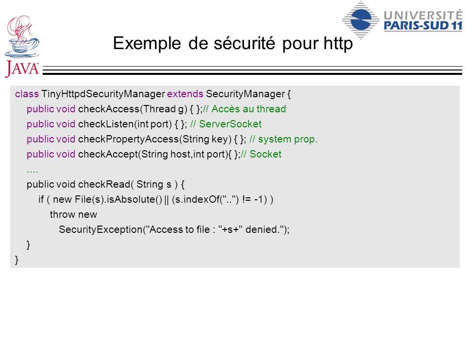Exemple de sécurité pour http