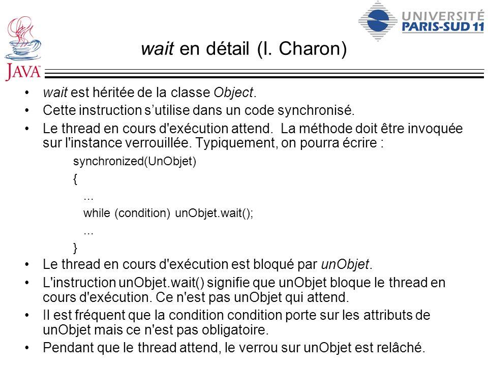 wait en détail (I. Charon)