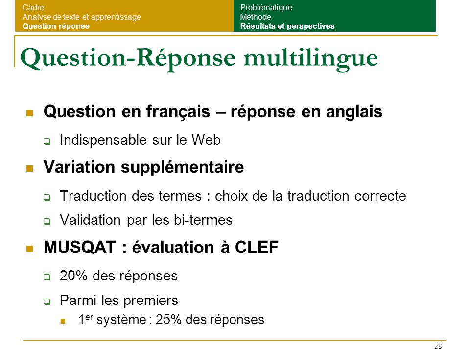 Question-Réponse multilingue