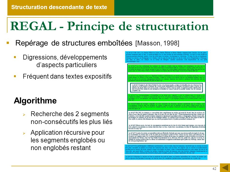 REGAL - Principe de structuration