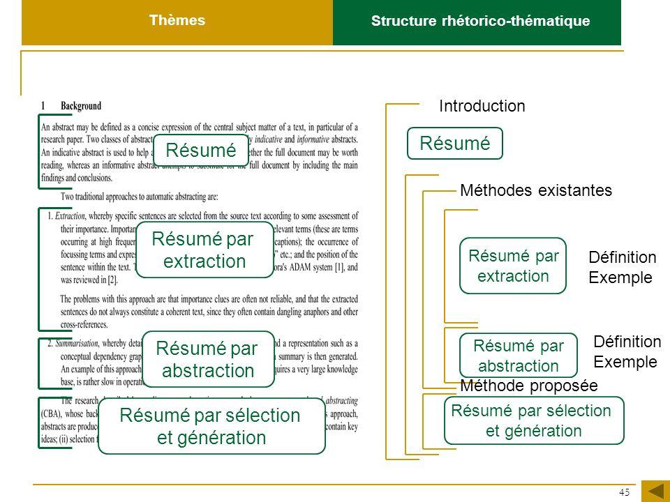 Structure rhétorico-thématique