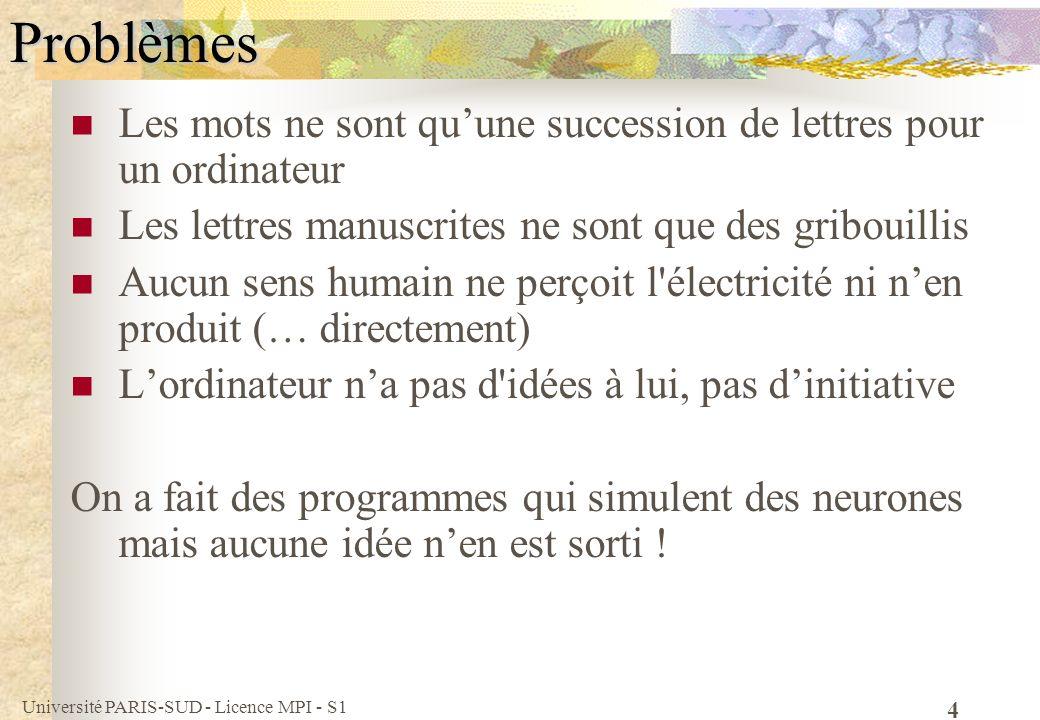 Problèmes Les mots ne sont qu'une succession de lettres pour un ordinateur. Les lettres manuscrites ne sont que des gribouillis.