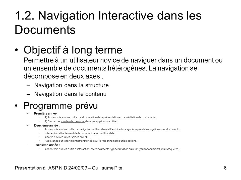1.2. Navigation Interactive dans les Documents