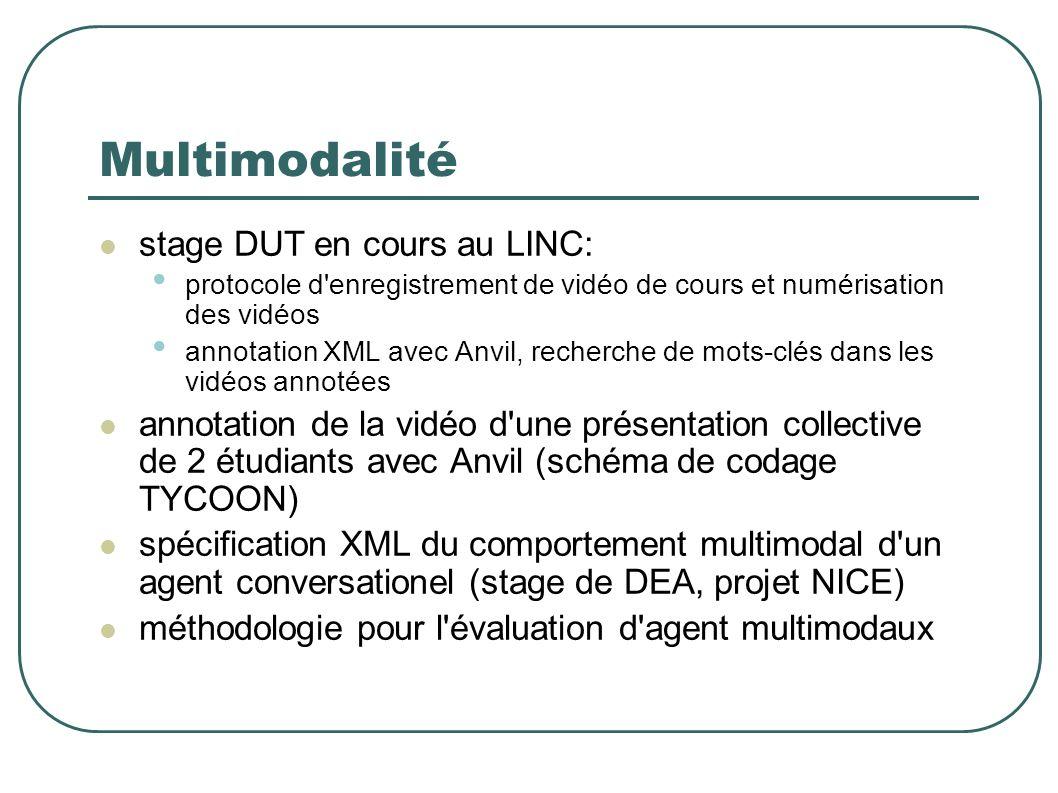 Multimodalité stage DUT en cours au LINC: