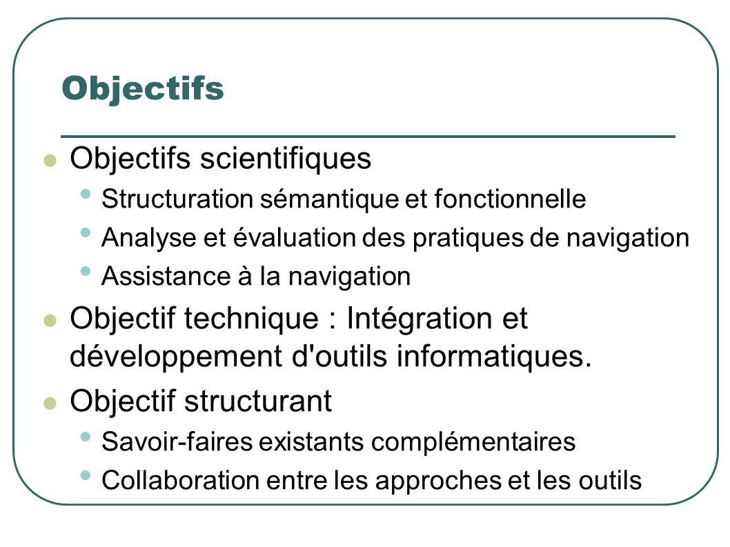 Objectifs Objectifs scientifiques