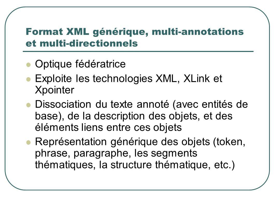 Format XML générique, multi-annotations et multi-directionnels