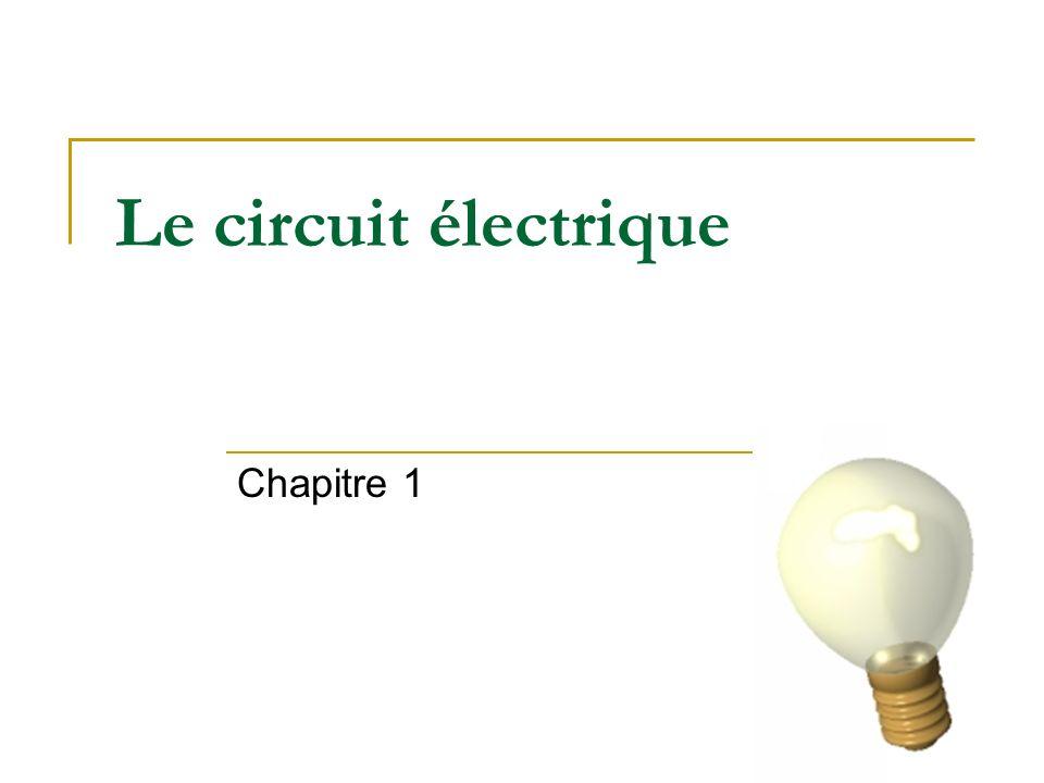 Le circuit électrique Chapitre 1