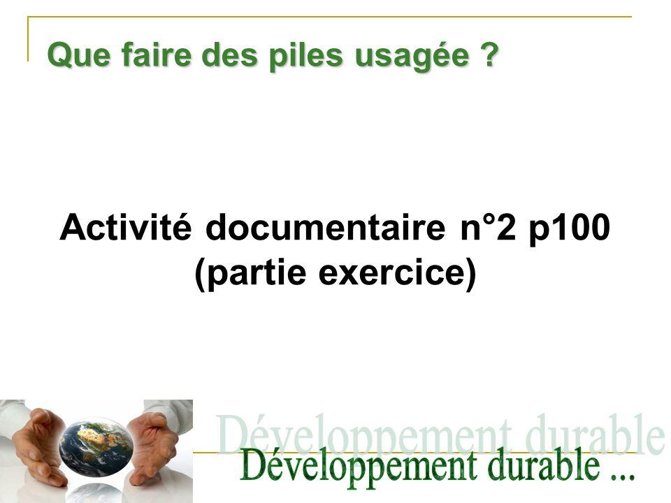 Activité documentaire n°2 p100