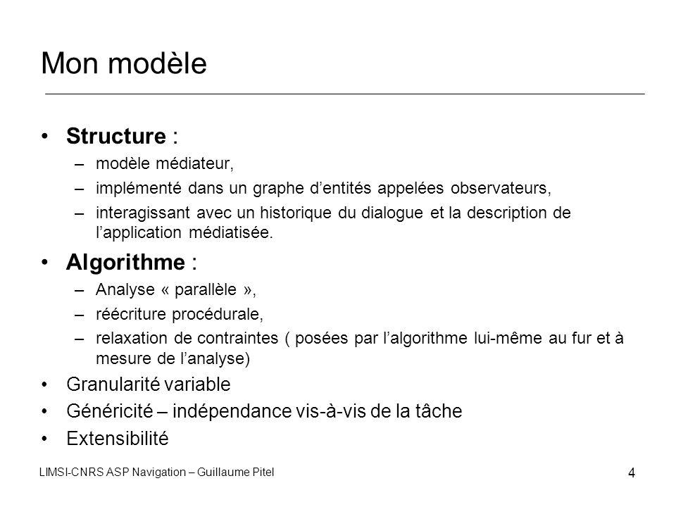 Mon modèle Structure : Algorithme : Granularité variable