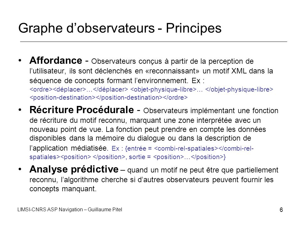 Graphe d'observateurs - Principes