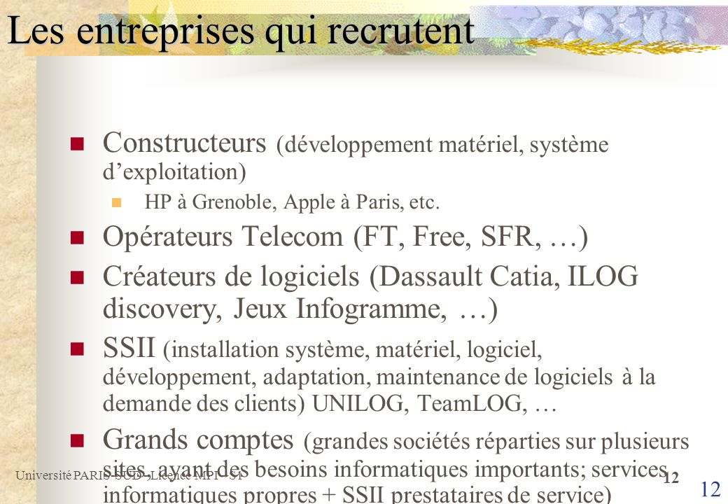Les entreprises qui recrutent