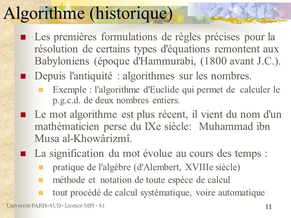Algorithme (historique)