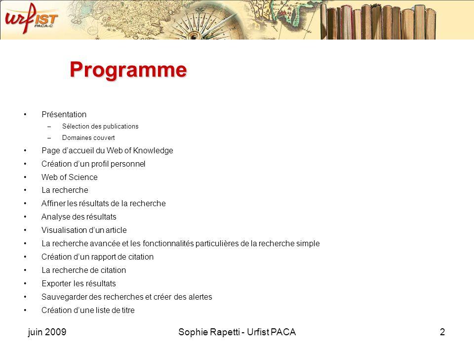 Sophie Rapetti - Urfist PACA