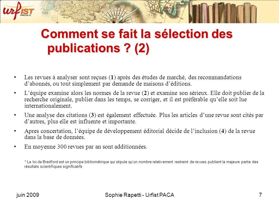 Comment se fait la sélection des publications (2)