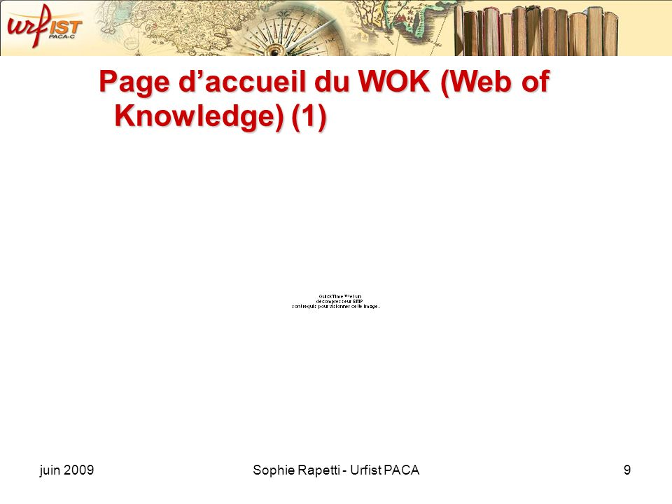Page d'accueil du WOK (Web of Knowledge) (1)