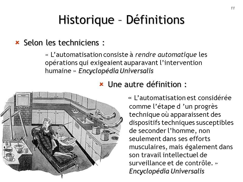 Historique – Définitions