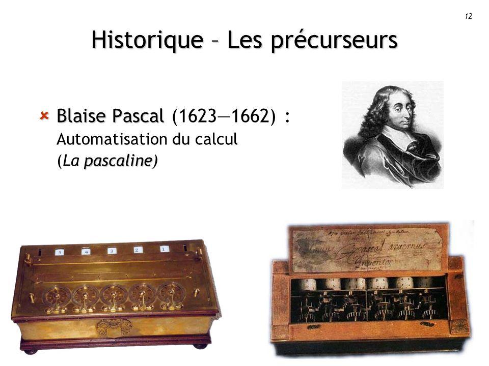 Historique – Les précurseurs