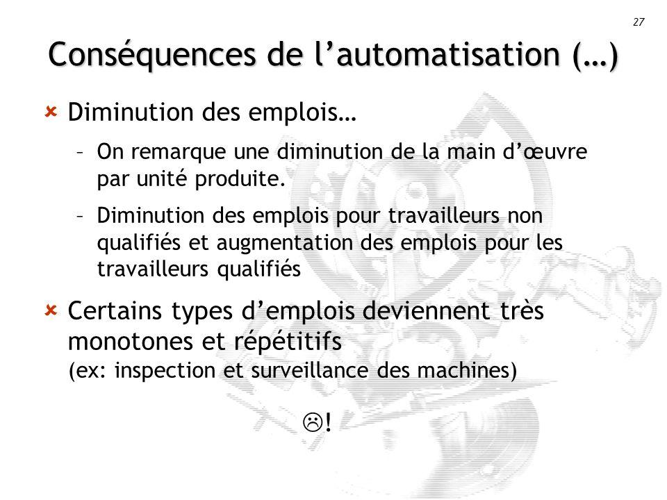 Conséquences de l'automatisation (…)