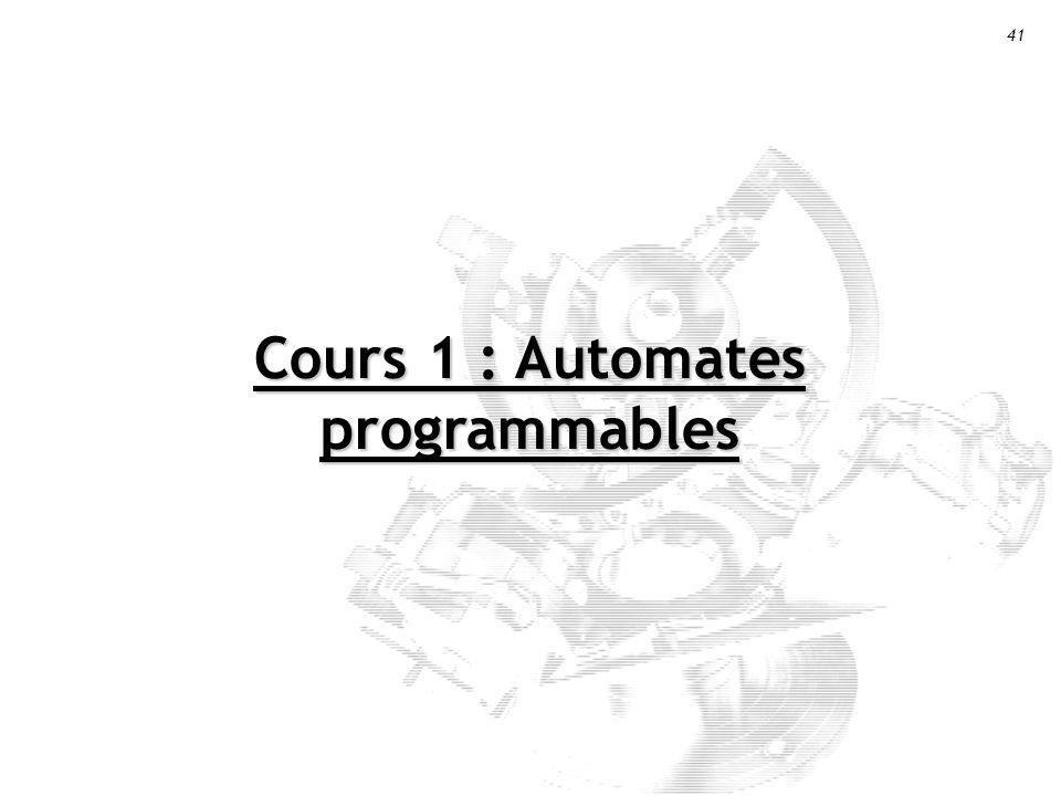 Cours 1 : Automates programmables