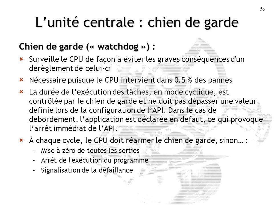 L'unité centrale : chien de garde