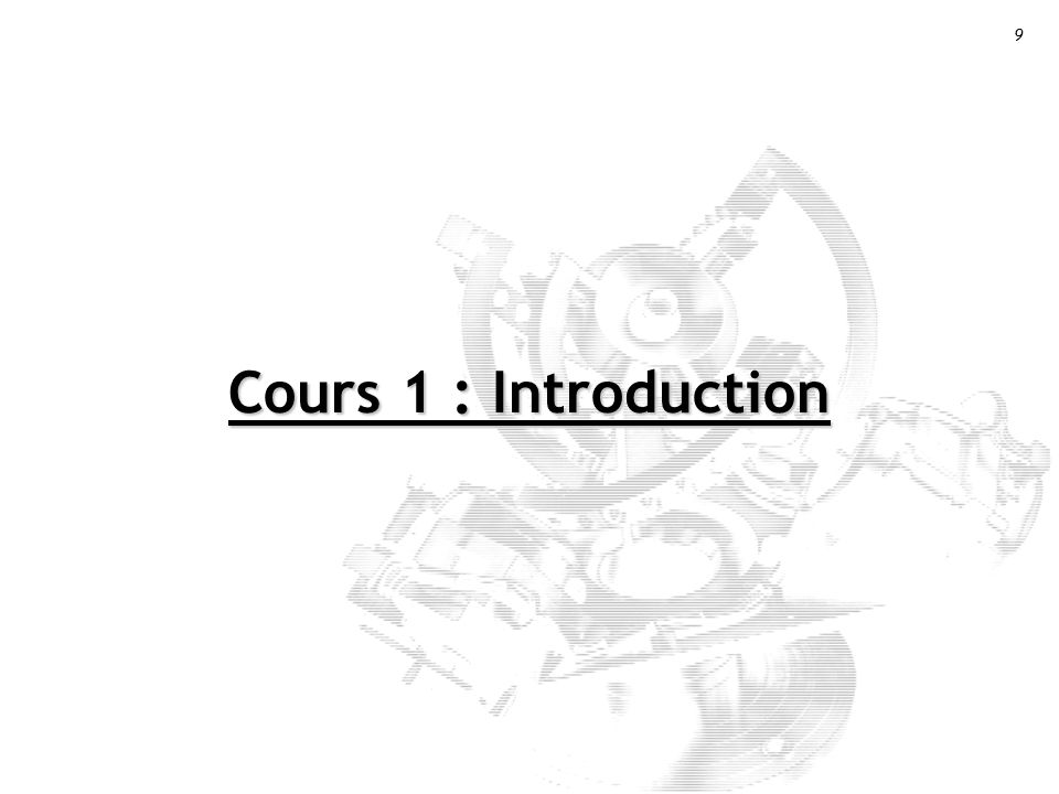 Cours 1 : Introduction