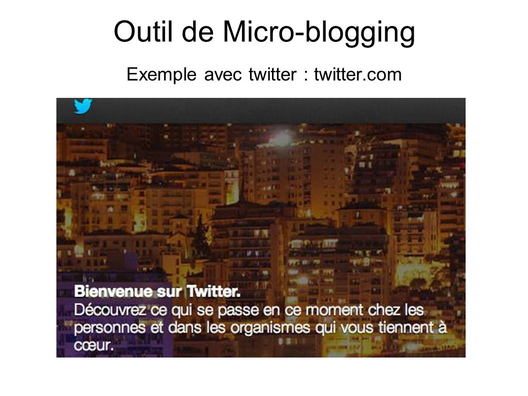 Outil de Micro-blogging