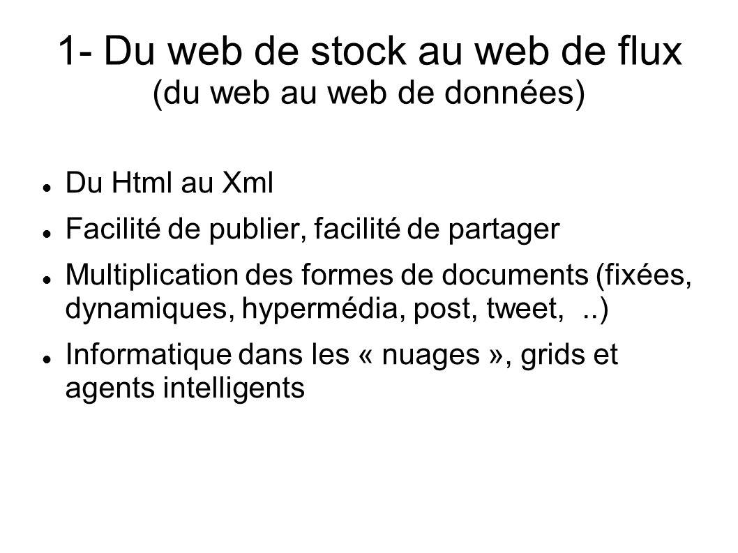 1- Du web de stock au web de flux (du web au web de données)