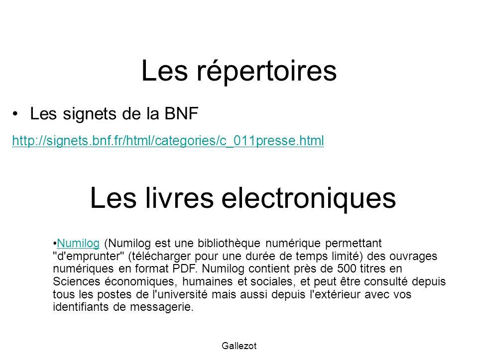Les livres electroniques