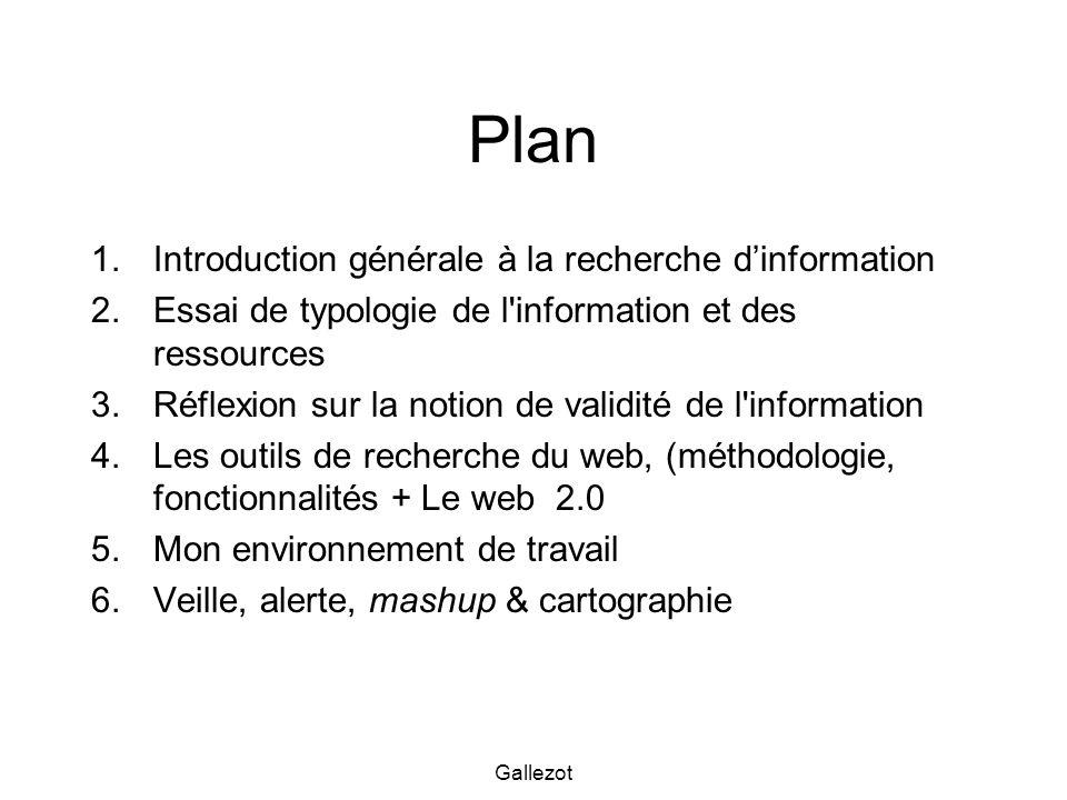 Plan Introduction générale à la recherche d'information