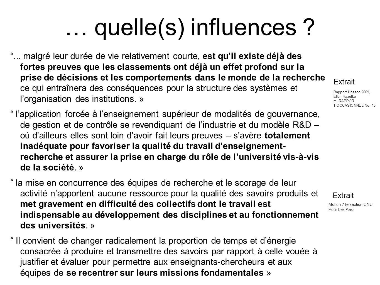 … quelle(s) influences