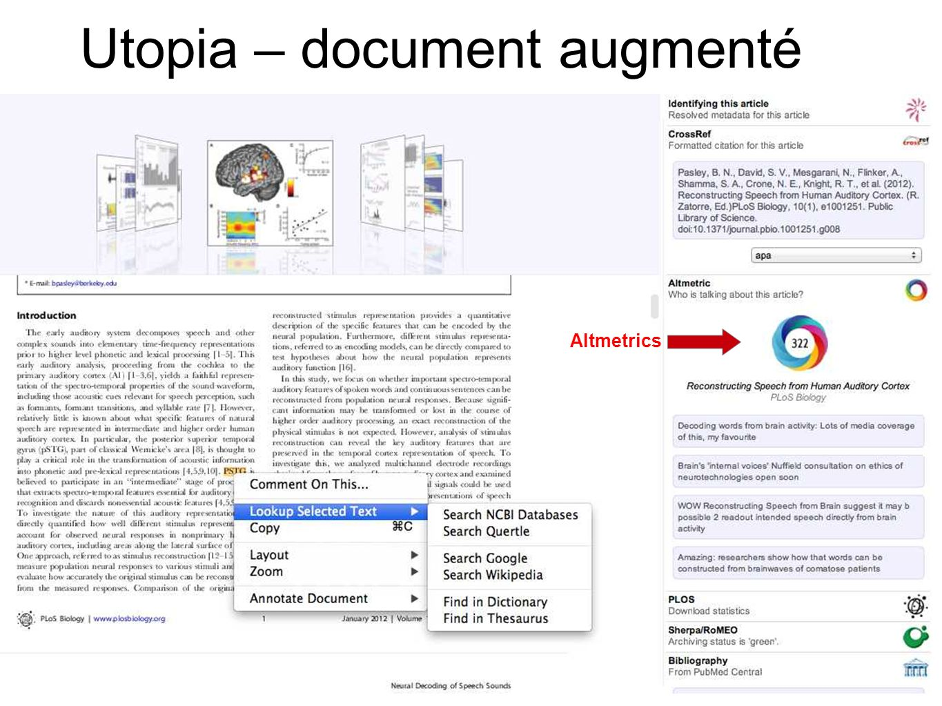 Utopia – document augmenté