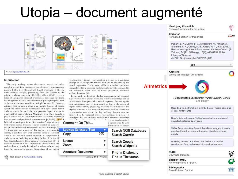 Utopia – document augmenté