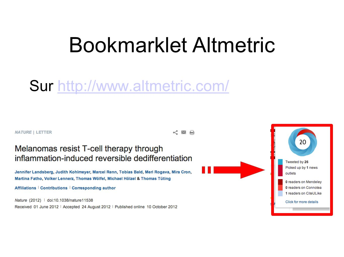 Bookmarklet Altmetric