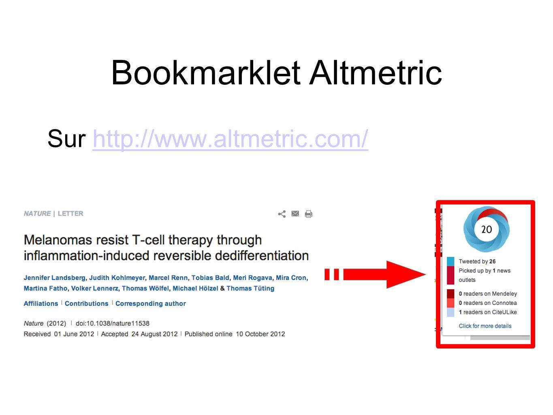 Bookmarklet Altmetric
